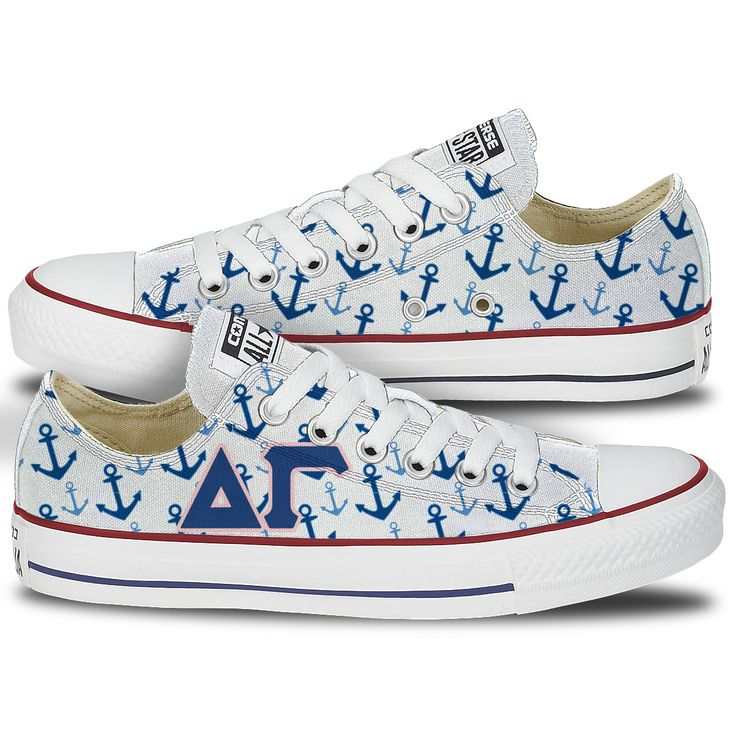Delta Gamma Converse – Tready Shoes  These Delta Gamma Chucks are the most popular DG shoe and DG Big Little gift on Tready. Contains Delta Gamma Letters and is cute gift that is not a shirt or Jersey. A little something different for our Detla Gamma Girls.