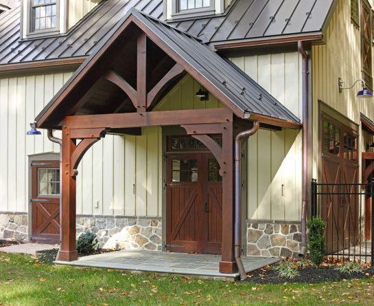 The timber porches complement the structure.