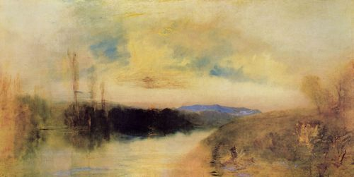 Turner, Joseph Mallord William: Eine abendliche Landschaft, möglicherweise Chichester Kanal (Evening Landscape, probably Chichester Canal)