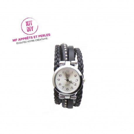 Confectionnez à petit prix votre montre originale avec les kits bijoux diy de MF APPRETS ET PERLES