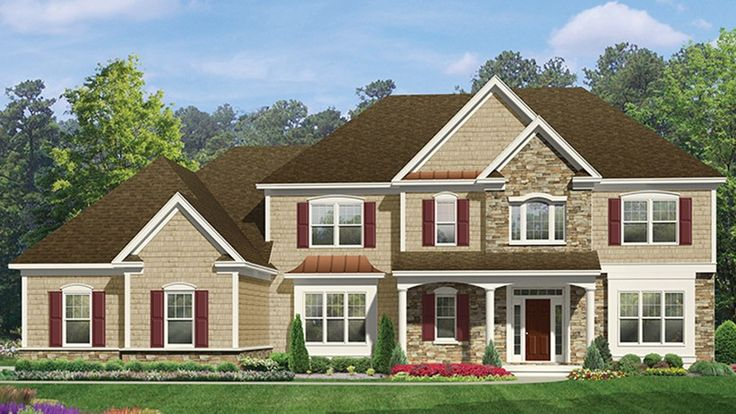 Floor Plan AFLFPW77607 is a beautiful 3601 square foot  Colonial  home design with 3 Garage Bays