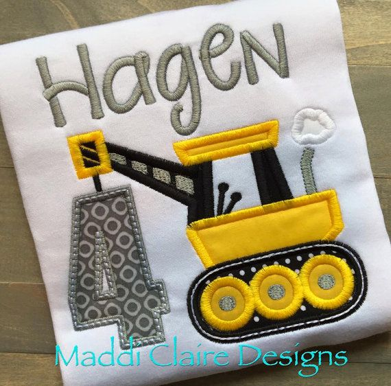 Construction Birthday shirt by MaddiClaireDesigns on Etsy