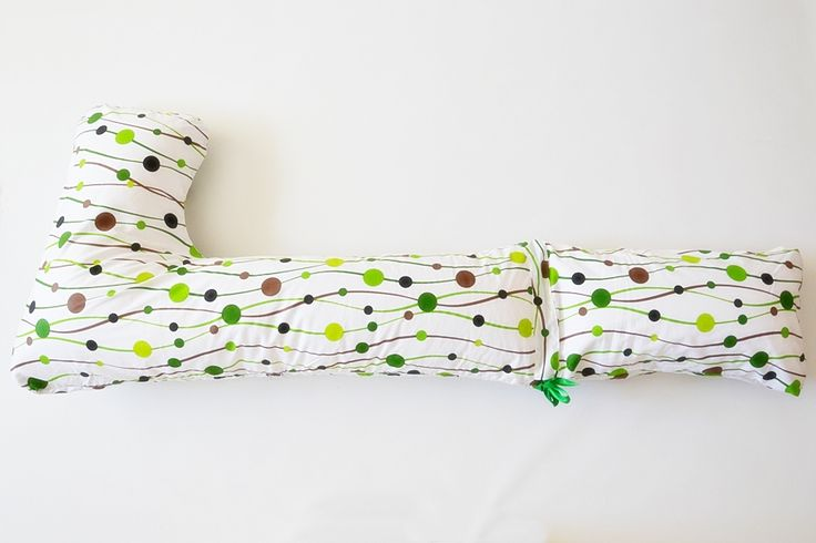 pregnancy and relaxing pillow Bastonas - dots theme, spring colors - more details on www.pernegravide.ro
