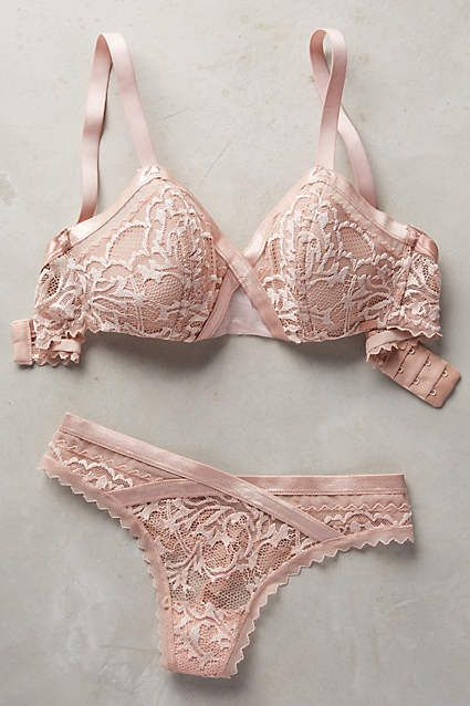 Calvin Klein Underwear Ribboned Lace Bra - anthropologie.com