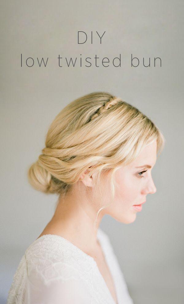 DIY Low Twisted Bun