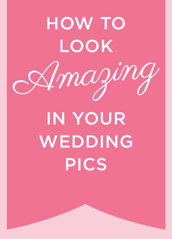 Get #tips from the pros on how to look STUNNING in your #wedding pics! #weddingphotos