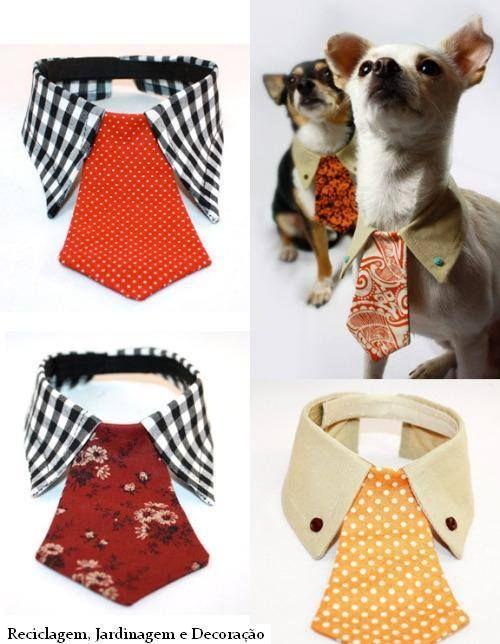 Colarinho com gravata para cães