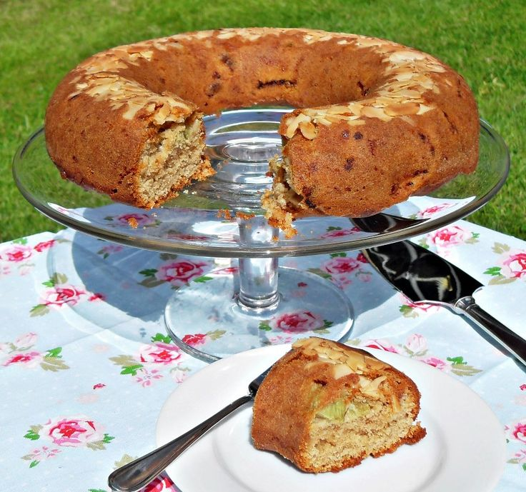 Rhubarb and Marzipan Cake #CookBlogShare                                                                                                                                                                                 More