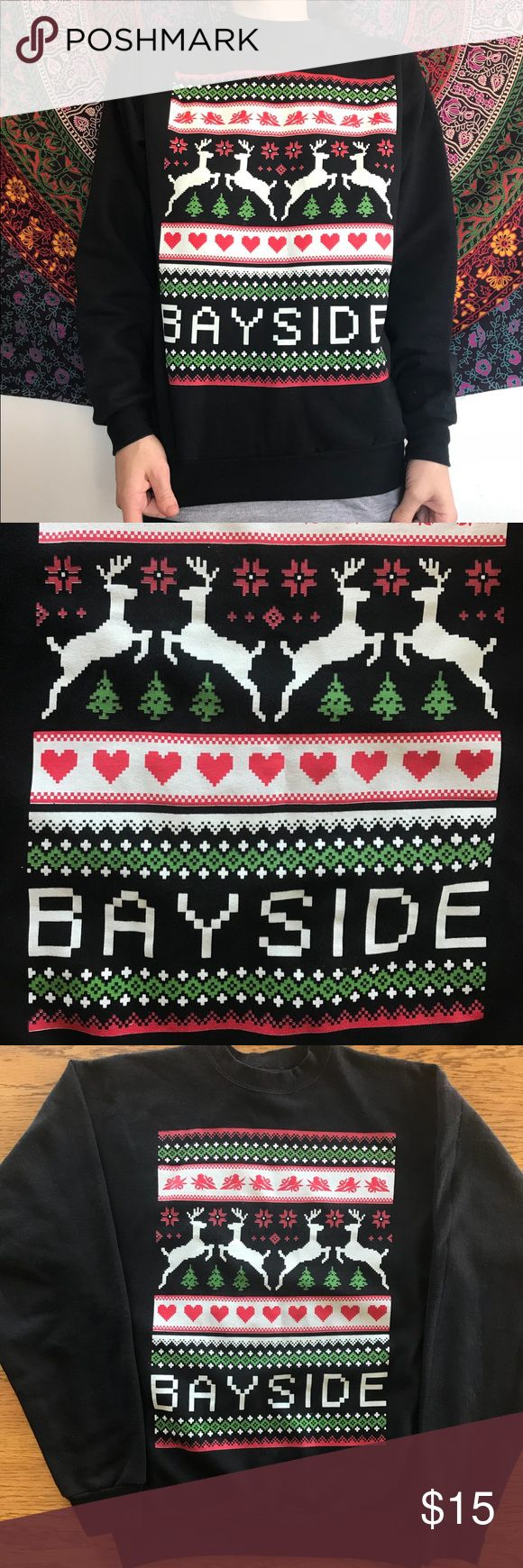 Bayside (band) Christmas Sweater Super cozy holiday crewneck sweater from your favorite punk rock band! Hanes Sweaters Crew & Scoop Necks