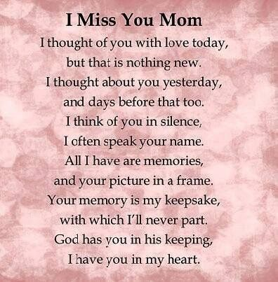 Happy Mother's Day Mom! You were the most amazing mother anyone could have asked for! I miss you so much! And I love you always! ❤️