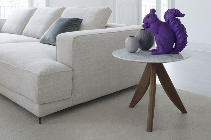 Christian sectional sofa and Circus coffee table in Carrara marble #ateliercollection #madeinitaly #homedecor #homedesign