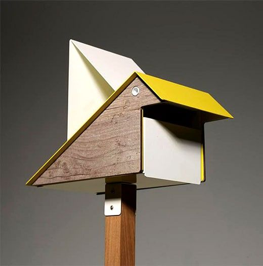 Stylised Bird-shaped Letterbox - http://www.decorationarch.net/decoration-ideas/stylised-bird-shaped-letterbox.html