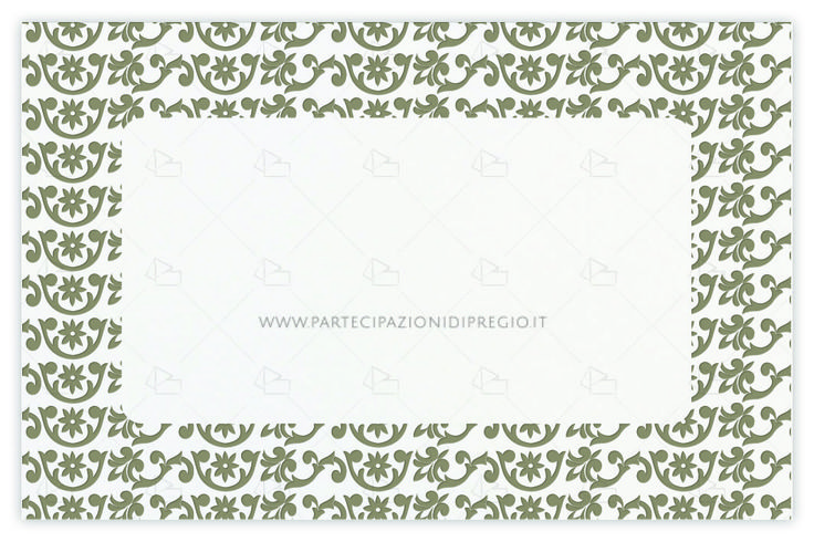 Partecipazioni matrimonio - dimensione: 17 x 11 - forma: rettangolare - carta: Gmund Cotton - Max White - 300, 600, 900 gr. - linea: cornici al vivo - modello: fregi - lavorazione press: fregio