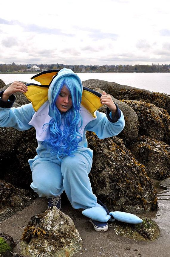 Vaporeon Inspired Onesie/Costume by WeEmployZombies on Etsy