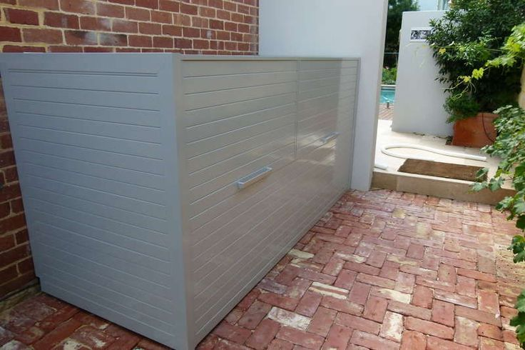 Get Slatted Pool Blanket Boxes and Pool Filter Enlosures in Perth Western Australia : Aluminium Slatted Gates Perth : Aluminium Slatted Products Western Australia : Slatted Gates and Infill Slatted Infill Panels WA