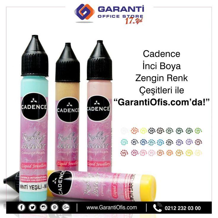 Cadence renkli inciler ile hobi çalışmalarınıza renk katın! Geniş renk yelpazesi ile GarantiOfis.com'da!  #cadenceboya #cadencesrenkliinci #inciboya #renkliinciler #hobimalzemeleri #garantiofis