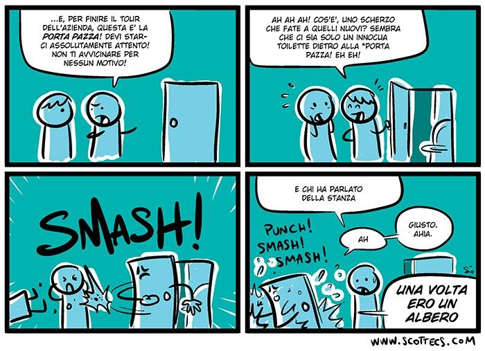 La porta pazza  --Like us on facebook! http://www.facebook.com/scomics