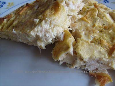 Quiche (senza crosta) di pollo e mele - Quiche (fara aluat) de pui si mere