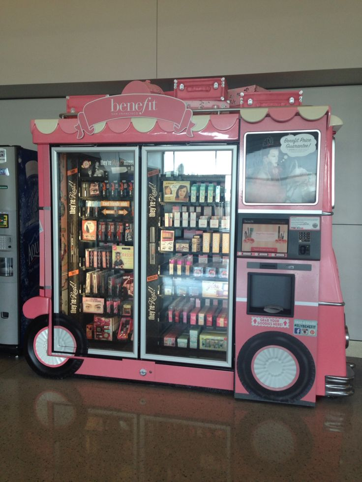 Benefit cosmetics vending machine bruh vending