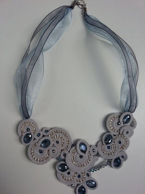 soutache necklace lights by ManiCreazioni on Etsy