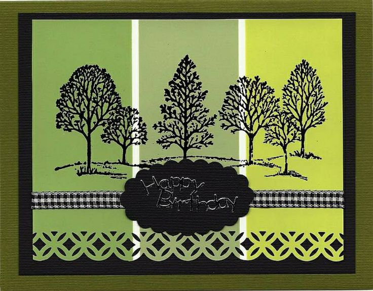 """Sympathy card featuring """"lovely as a tree"""" stamp set from Stampin' Up."""