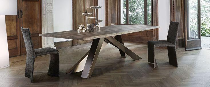 Big table tavolo gambe in acciaio verniciato bonaldo for Idee tavoli da pranzo