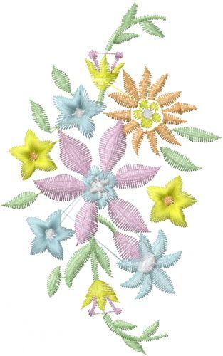 Flower Group embroidery design  AnnTheGran.com
