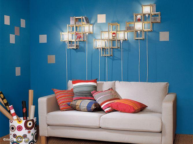 Étagères avec lampe. #smart