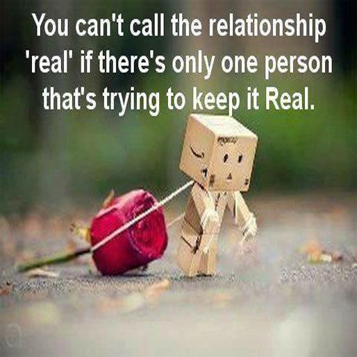 one sided relationship When it comes to relationships, one of the things you have to do all the time is show up it's part of the whole being in a supportive relationship thing.