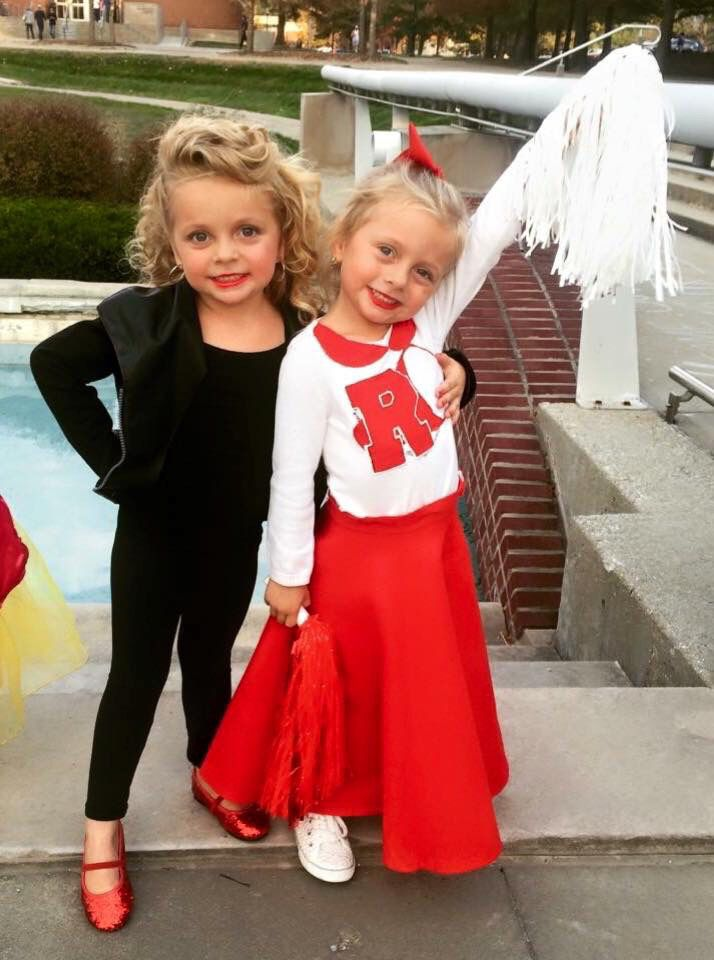 Halloween for twin girls. bad/good girl sandy