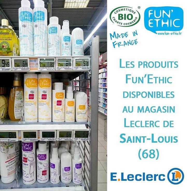 """Les produits #FunEthic sont disponibles au magasin #Leclerc de Saint-Louis (68) #Alsace  S'il n'y a pas de point de vente près de chez vous, il y a un document sur notre site internet qui vous permet de demander facilement à vos magasins préférés de référencer Fun'Ethic. Il est disponible dans l'onglet """"Acheter"""" > """"Points de vente"""" www.fun-ethic.fr Vous pouvez l'imprimer, le remplir et le déposer à l'accueil du magasin"""