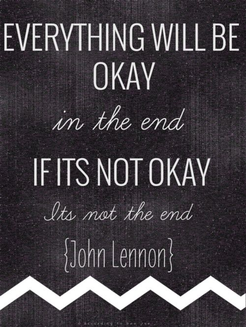 I'd seen this quote before, but I never knew it was from John Lennon. That just makes it even better.