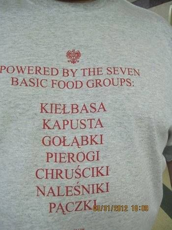 powered by the seven basic food groups #polish food