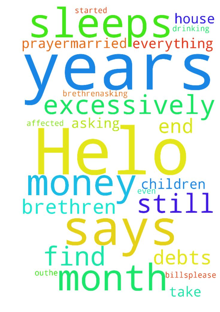 Helo brethren,asking for prayer,married for 4 years - Helo brethren,asking for prayer,married for 4 years still no children and this has affected my marriage as my husband has started drinking excessively and sleeps out,he does not take care of the bills even when its its month end he says he has no money ,I do everything in the house now ,Im I find myself in debts as my salary cant cover the bills,please help Posted at: https://prayerrequest.com/t/B4D #pray #prayer #request #prayerrequest