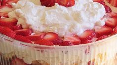 Strawberry Shortcake Punch Bowl Cake – 1K Recipes!