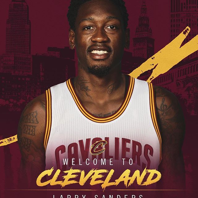 OFFICIAL: Welcome to The Land, @thereal_larrysanders!    Find more details on Cavs.com. #DefendTheLand