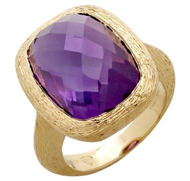 Rarities Fine Jewellery with Carol Brodie Amethyst Sterling Silver Vermeil Ring    #ilovetoshop