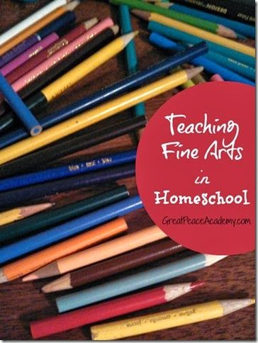 How I Teach Fine Arts in Homeschool when I have a child who is passionate for the arts. at Great Peace Academy