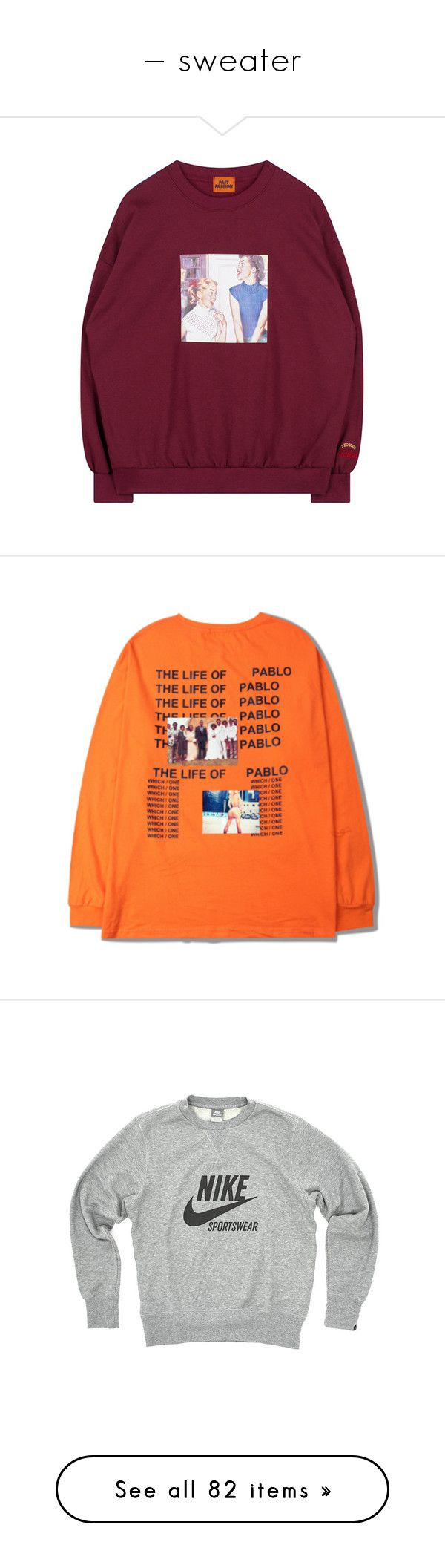 """— sweater"" by dean-official ❤ liked on Polyvore featuring tops, t-shirts, shirts, items, jumper, long sleeve shirts, orange long sleeve shirt, longsleeve t shirts, long sleeve t shirts and orange long sleeve t shirt"