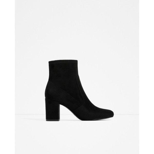 STIVALETTO CON ELASTICO E TACCO - Visualizza tutto-SCARPE-DONNA | ZARA... ($44) ❤ liked on Polyvore featuring shoes, zara, boots, black, heeled, black shoes and kohl shoes