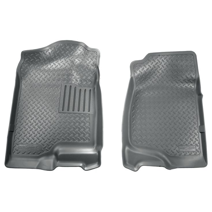 Husky Classic 2007-2014 Cadillac Escalade/ESV 2nd Row Bench/Bucket Grey Front Floor Mats/Liners