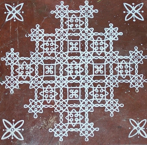 Kolam design, Indian floor art