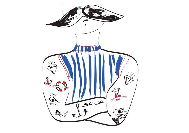 #illustration #MLC #sailor #tattoos http://letiziamlc.tumblr.com/