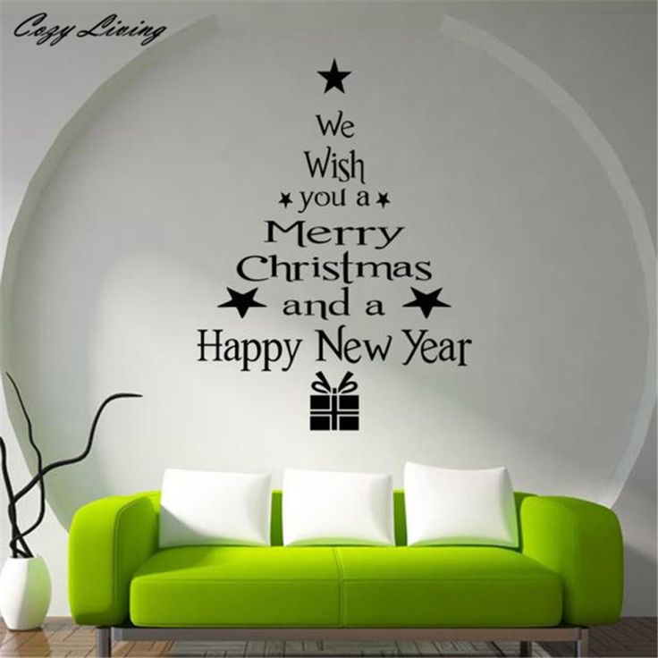 Christmas Tree Letters Stick Wall Art Decal Mural Home Room Decor Wall  Sticker DIY Home Decor Part 50