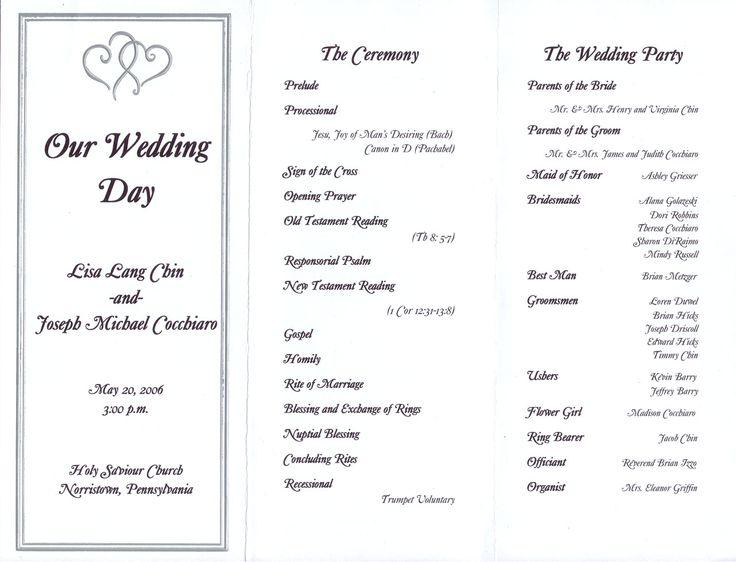 7 Best Wedding Program Images On Pinterest