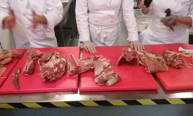 Breaking lamb down