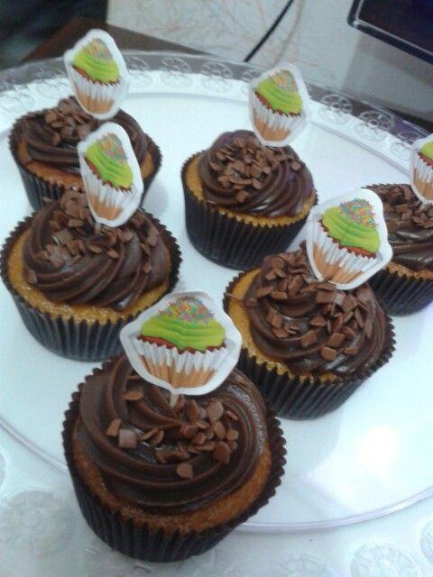 Cupcakes cenoura com brigadeiro ♥