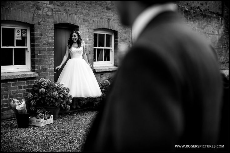Vicky and Matt ready for a little pre-ceremony photoshoot before their Woodland Wedding -
