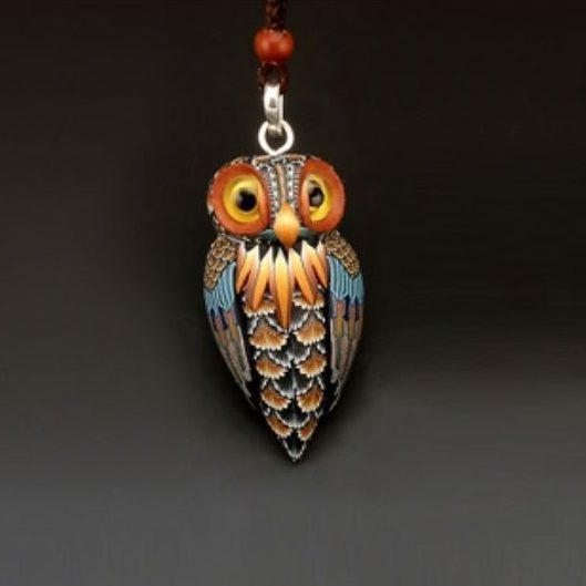 Owl Necklace | Pendant | Owl Jewelry | FimoCreations