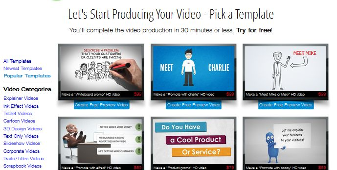 Affordable explainer video for your website at Make Web Video